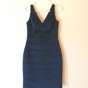 American Living v-neck navy blue dress size small